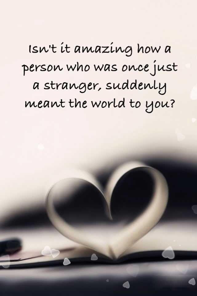 Love makes the world go round.