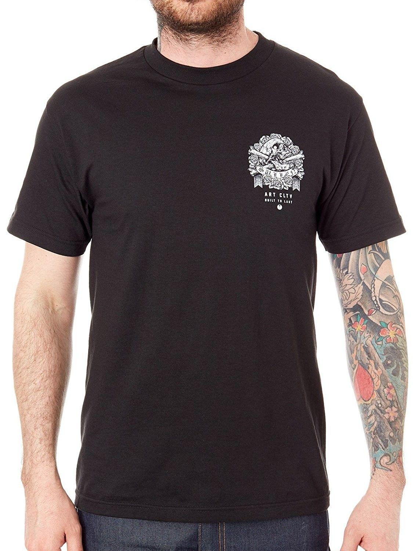 Men's Clothing, Shirts, T Shirts, Mens Stipple Skull Black T