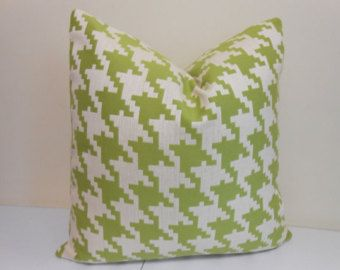 Bright Green Pillows by Maria on Etsy