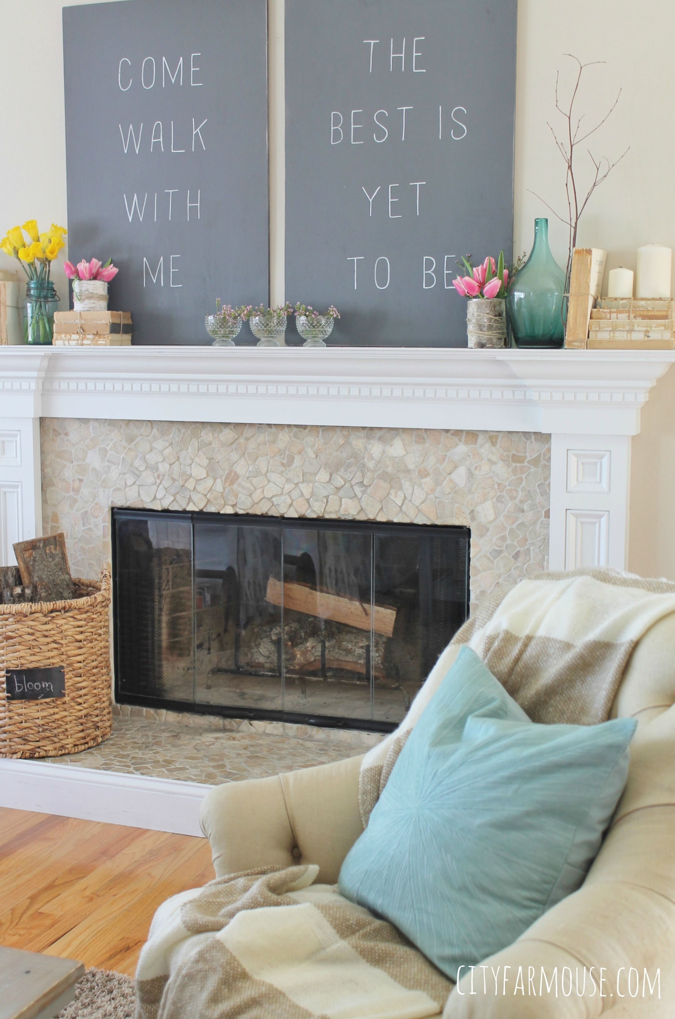 Another Easy Way To Decorate For This Beautiful New Season Is By Creating A  Fun #. Fireplace ...