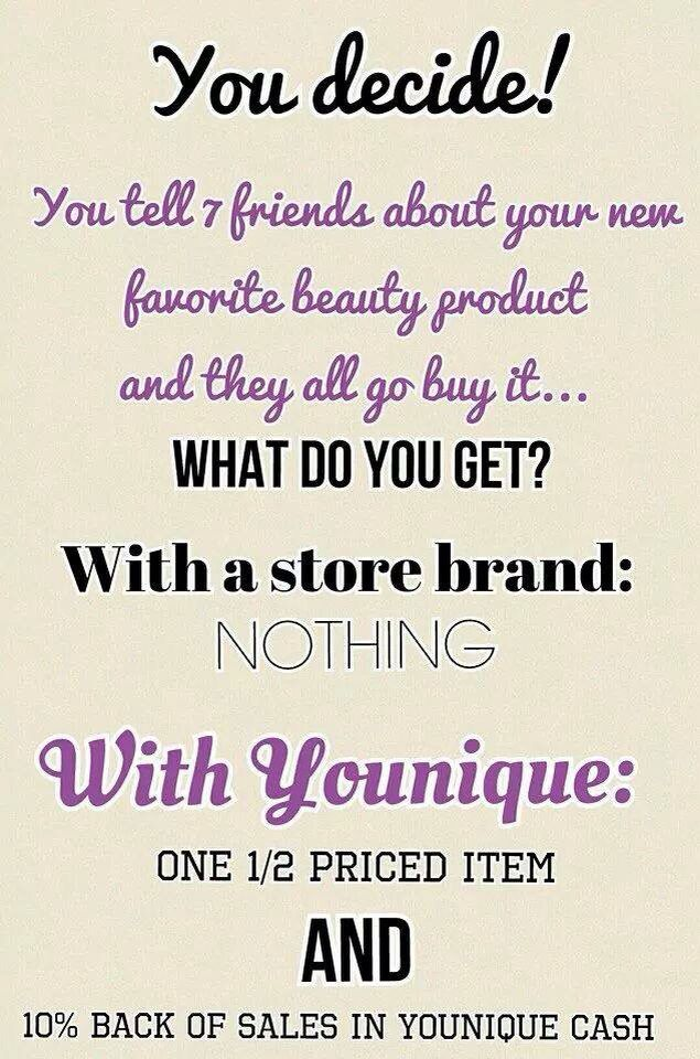 You decide ~ #younique #makeup #quotes #makemoneywearingmakeup