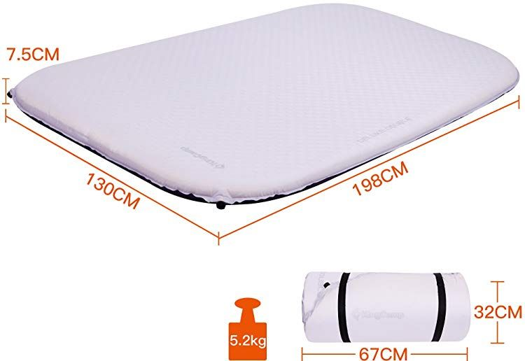 Kingcamp Deluxe Double Self Inflating Camping Pad 3 Inches Thick Sleeping Pads Camping Pad Pad