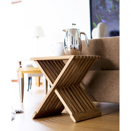 Fionia Folding Stool/Table - Teak #backpatio