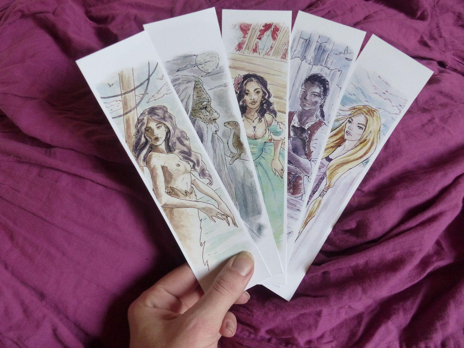 Bookmarks marquepages robin hobb universe elise v on