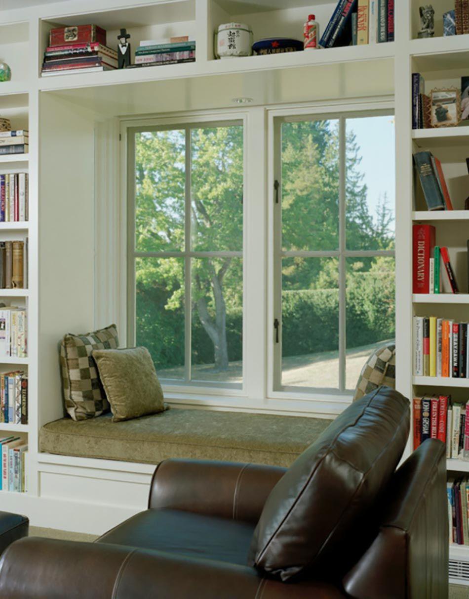 window seat ou l am nagement chambre l ambiance douillette fenetre niche pinterest. Black Bedroom Furniture Sets. Home Design Ideas