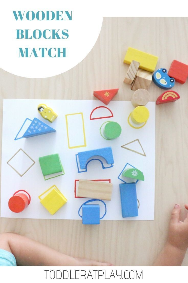 Wooden Blocks Match - Toddler at Play - Activities -