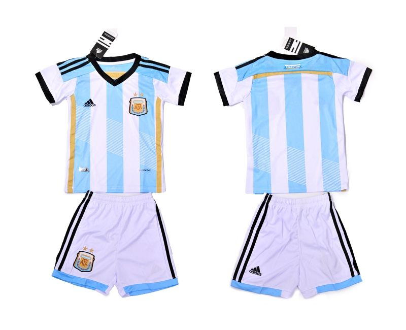 7dbc18b2a 2014 World Cup Kids Football Shirt Set Home Argentina