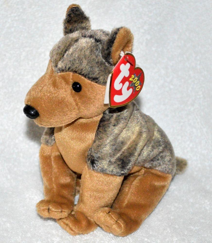 TY Beanie Babies Rare Sarge the GermanShepherd Original