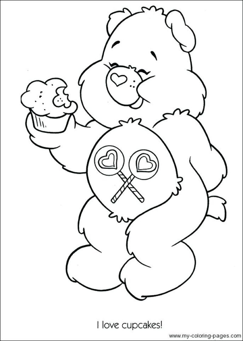 Care Bear Christmas Coloring Pages Bear Coloring Pages Cartoon Coloring Pages Coloring Books