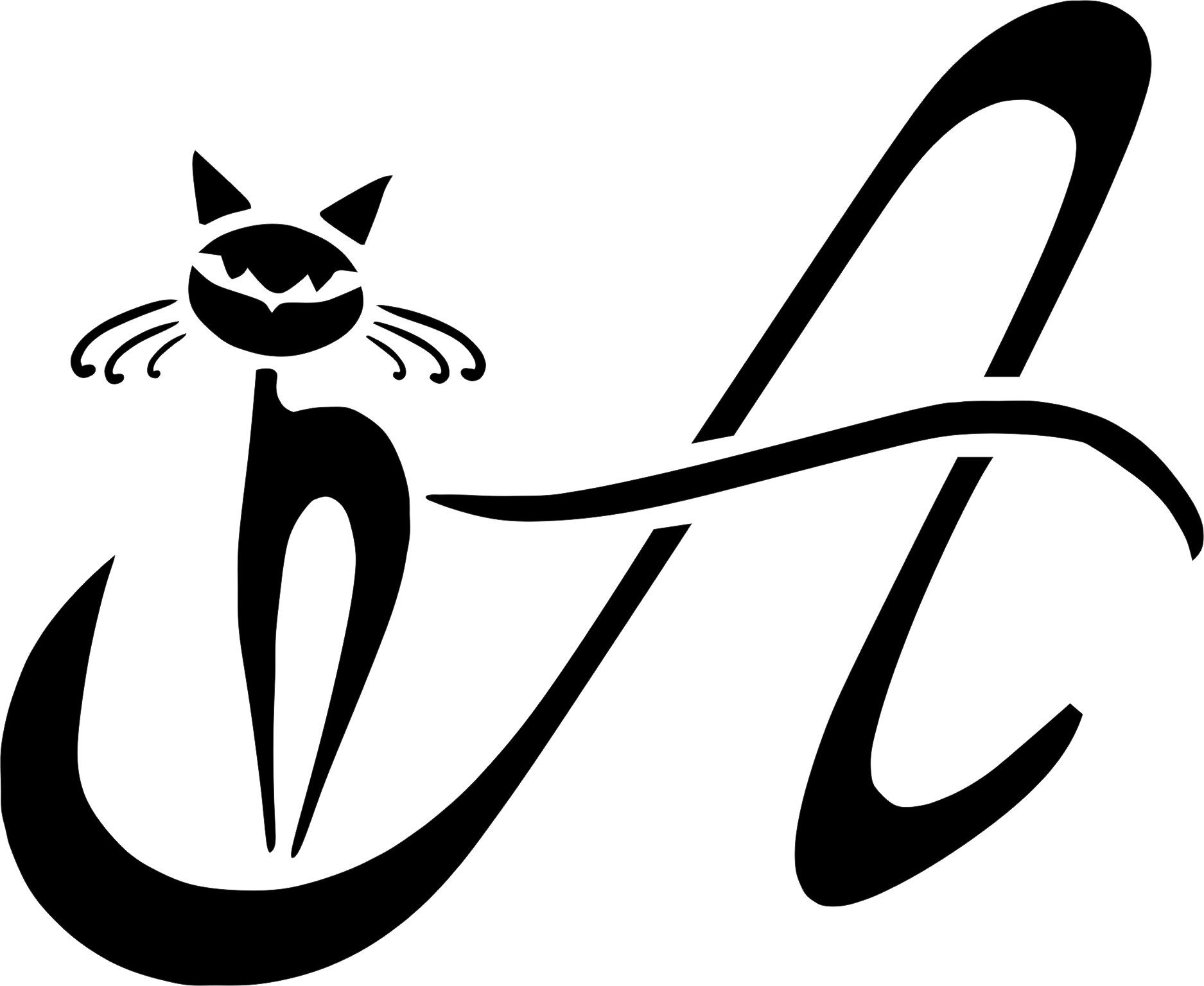 stencil schablone a-katze | Ч-Б КАРТИНКИ | pinterest | shopping