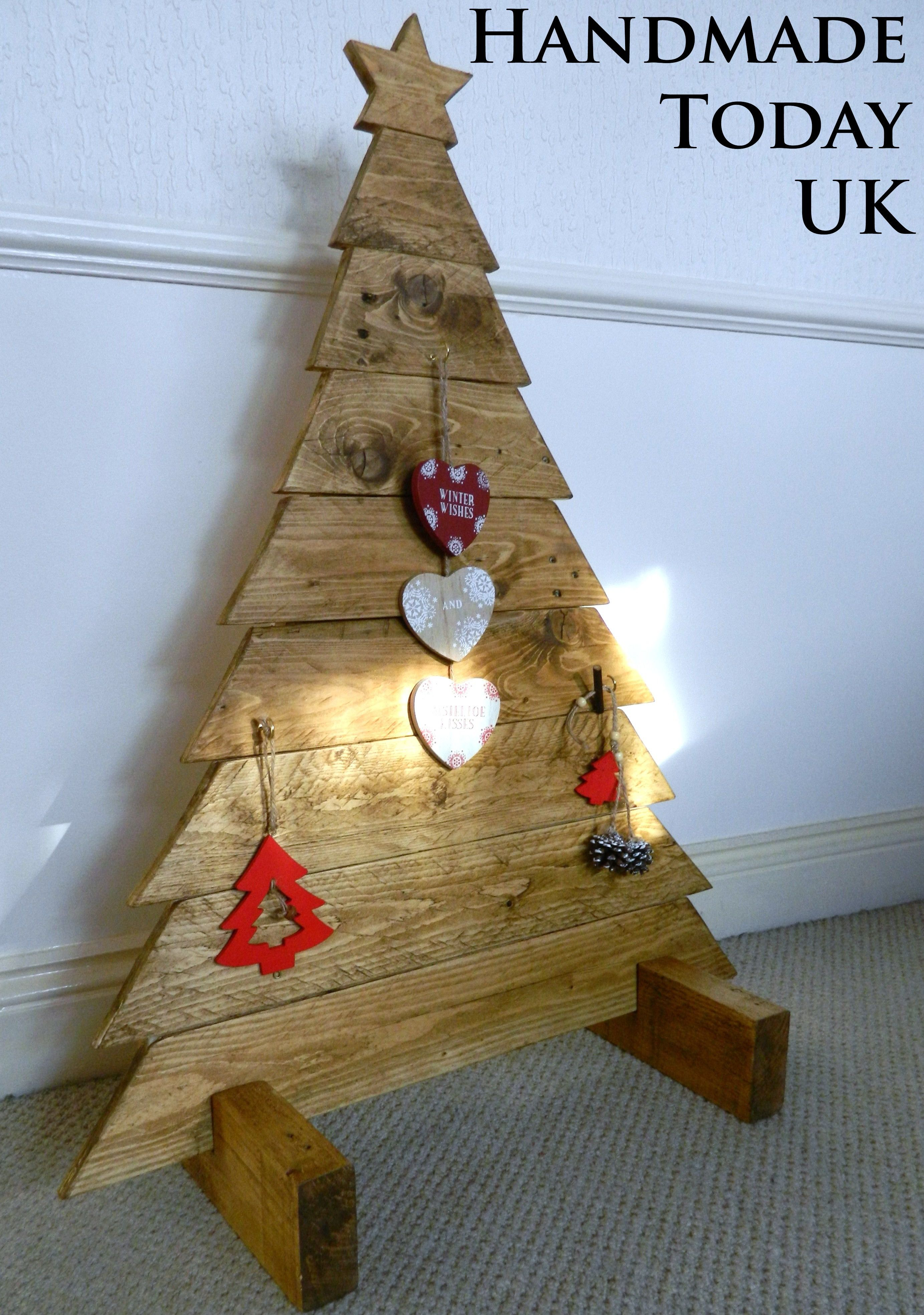 Handmadetodayuk Fullscreen Page Rustic Christmas Tree Wood Christmas Tree Hanging Decor