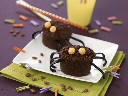 muffins araignées au chocolat | recette | muffins, beurre fondu et