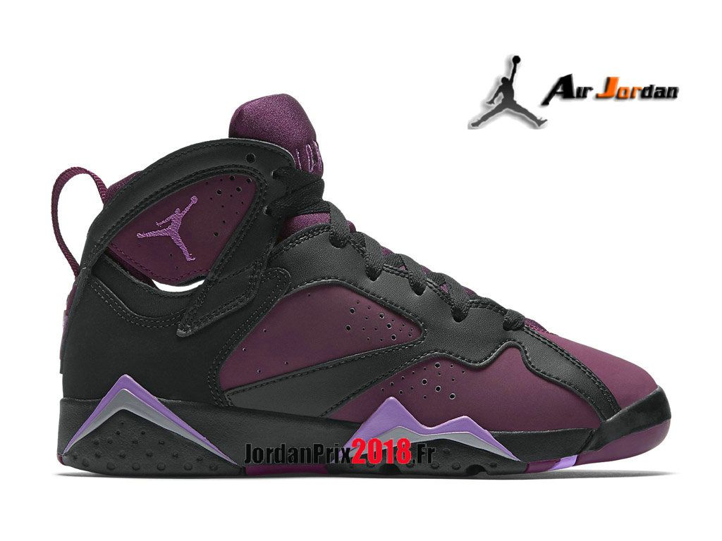 premium selection fbeb0 7aa8d Chaussure Basket Jordan Prix Pour Femme Fille Air Jordan 7 GS Mulberry Noir  Rose