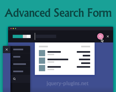 Advanced Search Form with jQuery and CSS #search #filtering #css