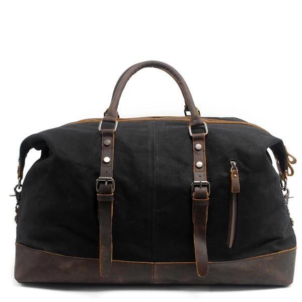 2200051ddcfa Vintage Canvas   Leather Waterproof Duffle Bag