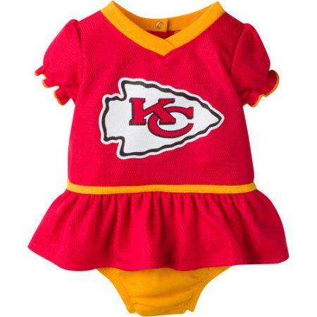 best loved 39b27 7b109 NFL Kansas City Chiefs Baby Girls Mesh Dazzle Dress and ...