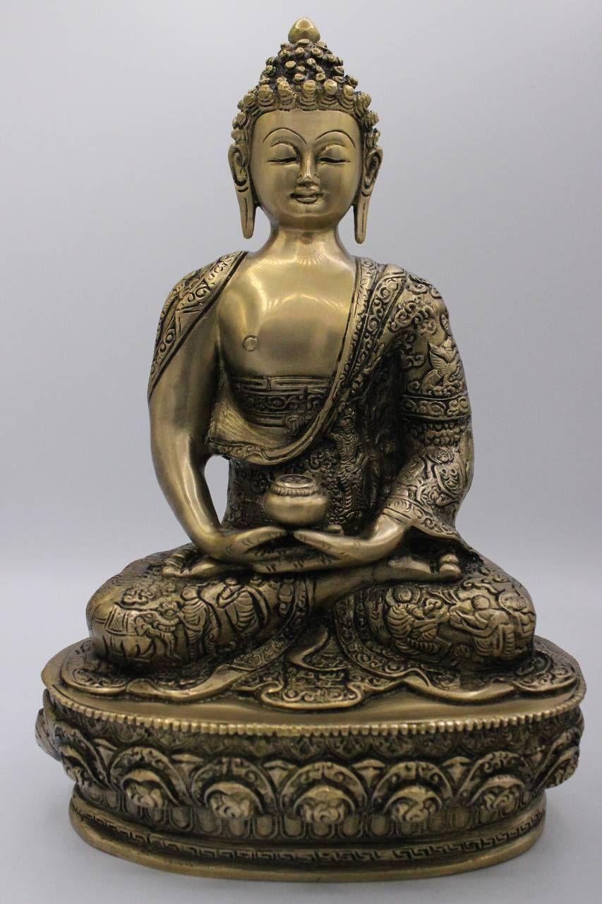 Chinesische Amitabha Buddha Figur aus Bronze. Die edle