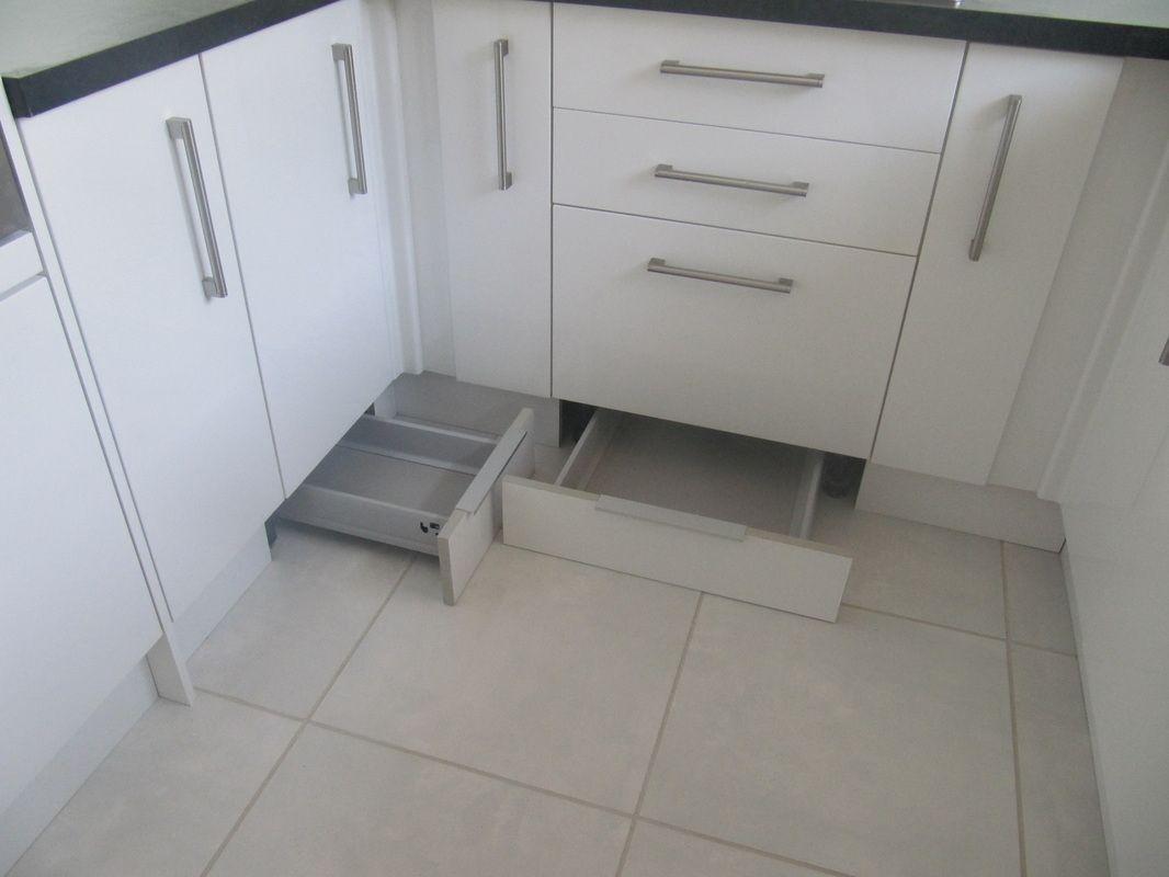 Toekick Plinth Drawers Make Use Of Unused Space Under The Cabinets Kitchen Plinth Space Saving Kitchen Kitchen Design