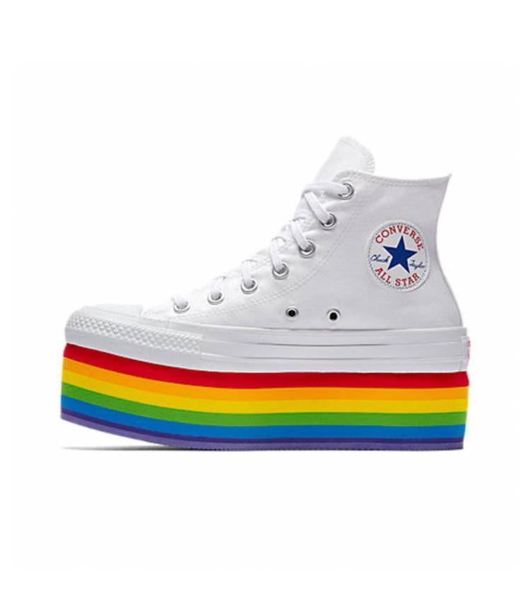 scarpe converse arcobaleno