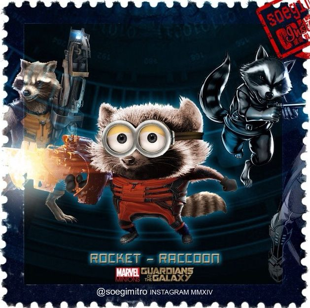 Guardians of The Galaxy Minions Rocket: Racoon