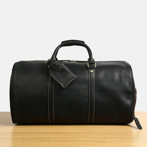 b80759339 Handmade Full Grain Distressed Leather Travel Bag with shoe Pouch Weekend  Bag Duffel Bag Leather Duf