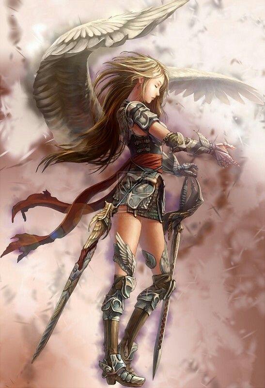 Ange Guerriere Tatoo Fantasy Illustration Fantasy Et Fantasy Art