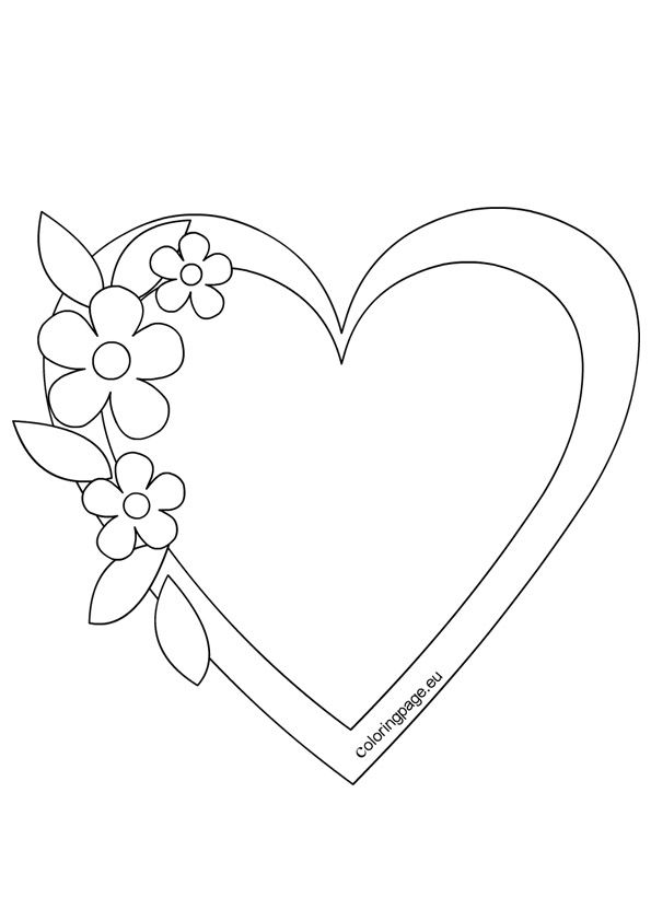 Heart Frame Template Valentines Day Coloring Page Heart