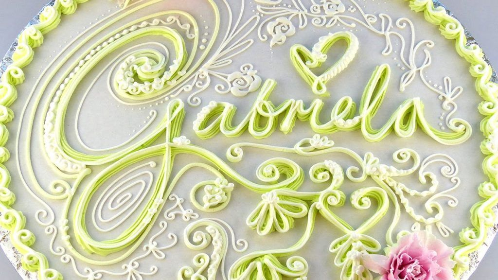CAKE DECORATING TECHNIQUES – PIPING LETTERS / WRITING ...