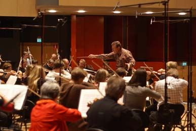 Okko Kamu recording Sibelius with the Lahti Sympfony Orchestra