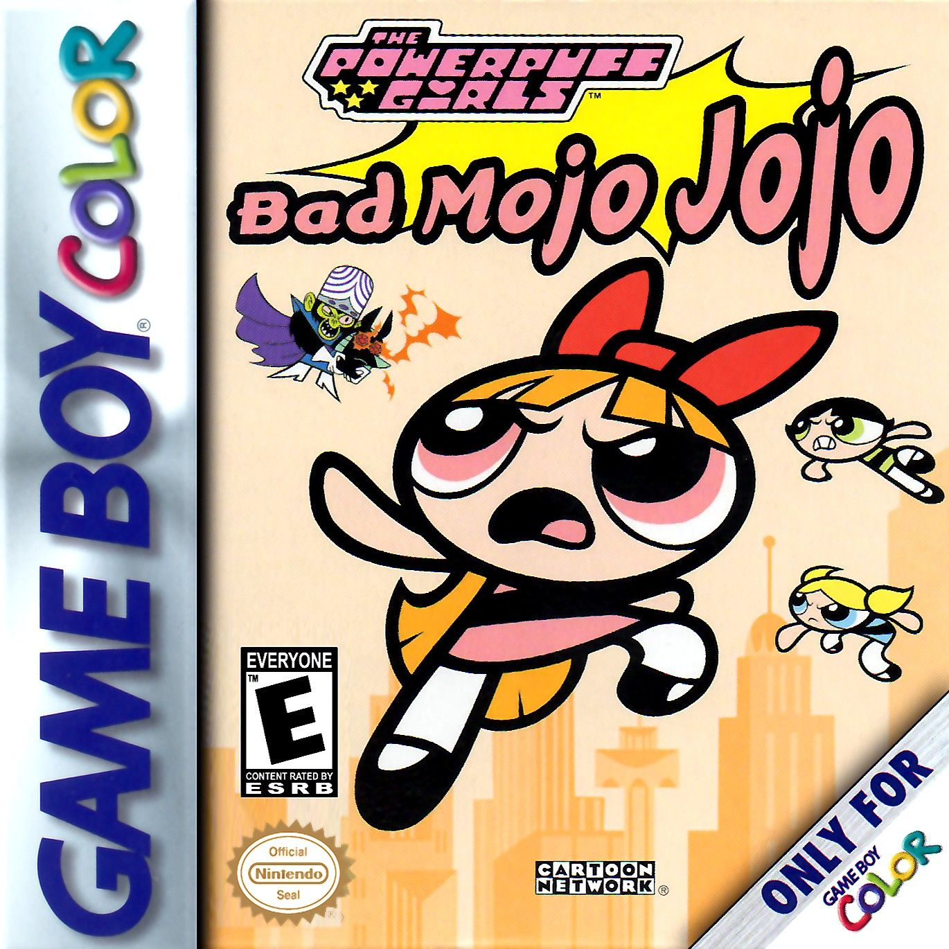 Game boy color online free - Powerpuff Girls The Bad Mojo Jojo Is A Nintendo Game Boy Color Game That