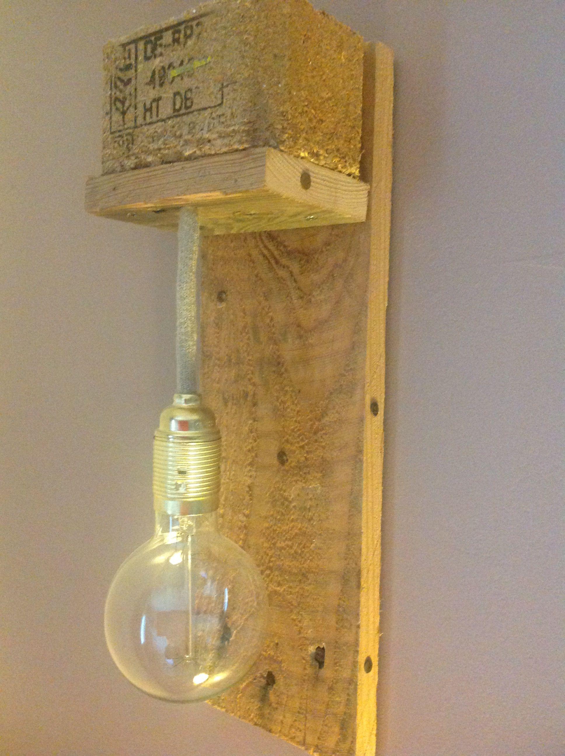Applique Luminaire Diy Palette Créations Diverses Lamp