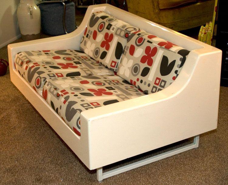 Graphic vintage molded fiberglass sofa httpboise