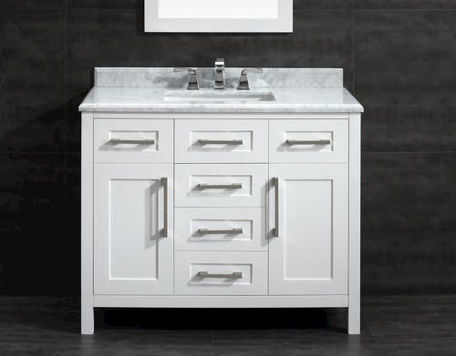 OVE Décor X White Malibu Vanity And Carrara Marble Vanity Top With  Undermount Sink At Menards®: OVE Du0026eacute;cor X White Malibu Vanity And  Carrara Marble ...