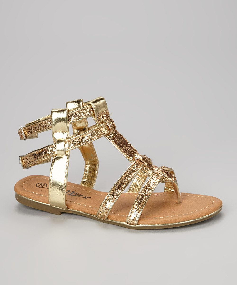 69c36faab9bf Love this Chatties Gold Metallic Gladiator Sandal by Chatties on  zulily!   zulilyfinds