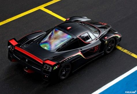 Fear the darkness  Starring: Ferrari FXX  (by Pixelklinik) #ferrarifxx