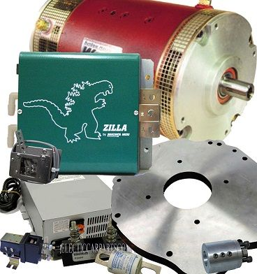 Ac And Dc Motors And Conversion Kits And Wiring Components Electric Cars Electric Car Conversion Electric Car Engine
