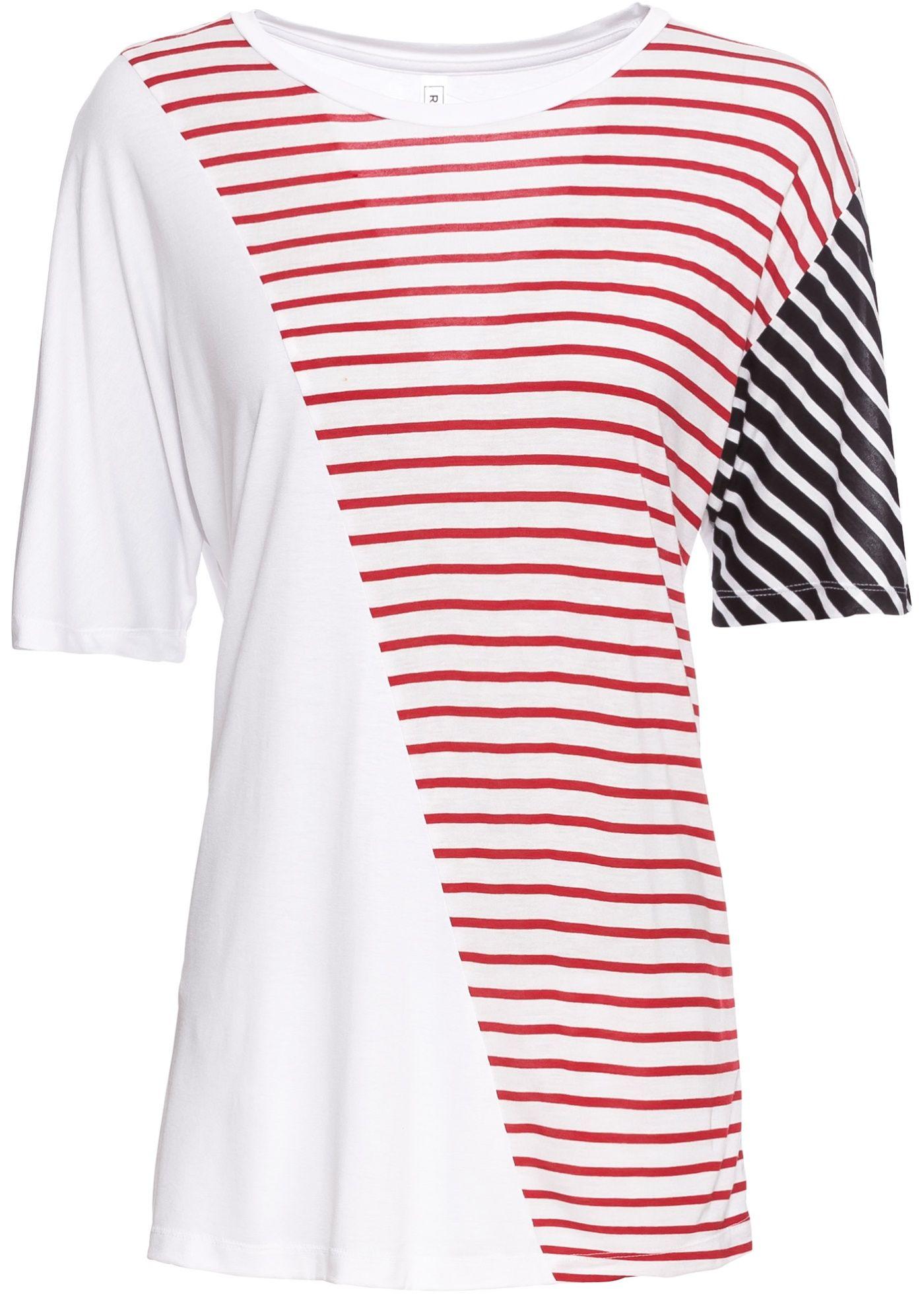 Longshirt in Streifenoptik   Shirts, T shirt und Lässiger look