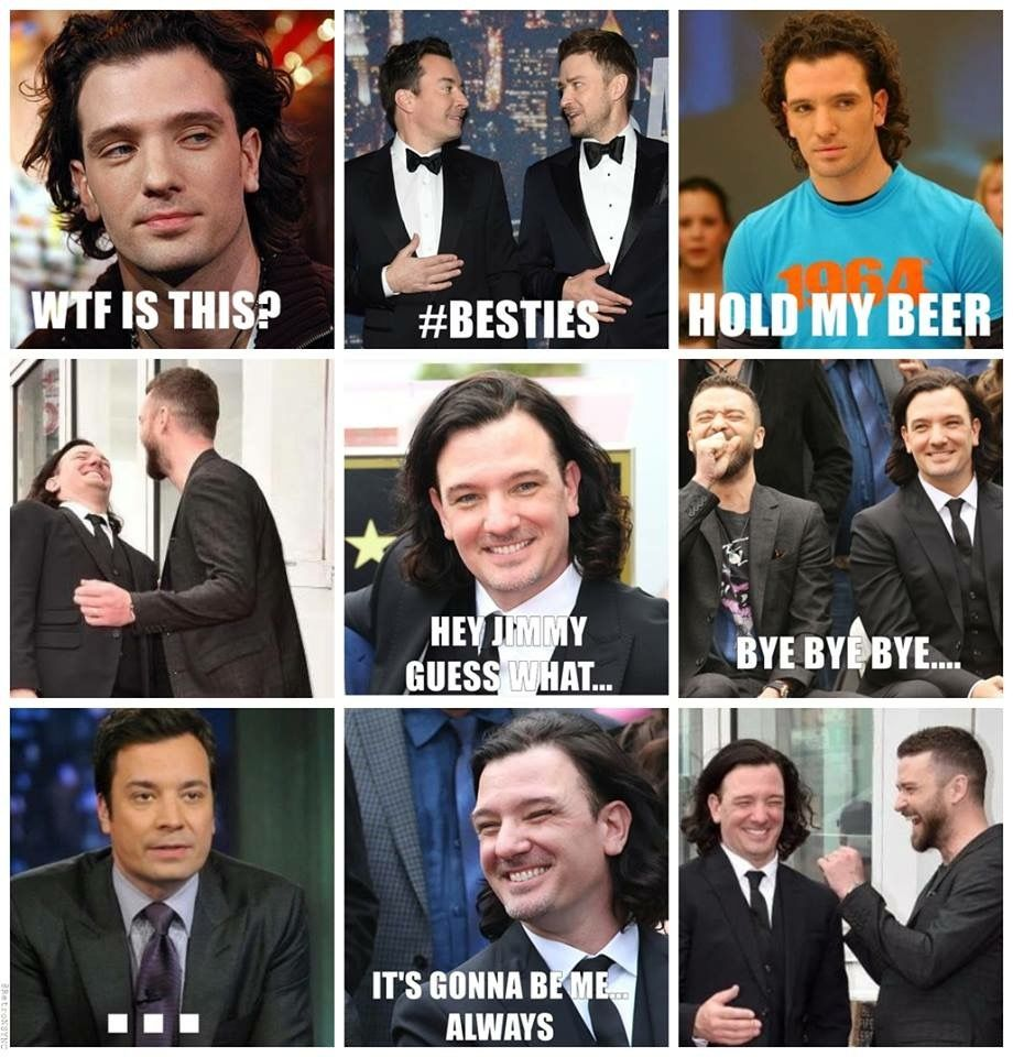 Nsync Justintimberlake Jcchasez Besties Meme A Little Late But Happy Besties Day This Was Begging To Be Made Not Tryi Nsync Meme Nsync Justin Timberlake