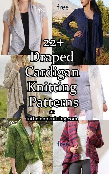 8044692271549 Knitting patterns for Draped Cardigans and Jackets