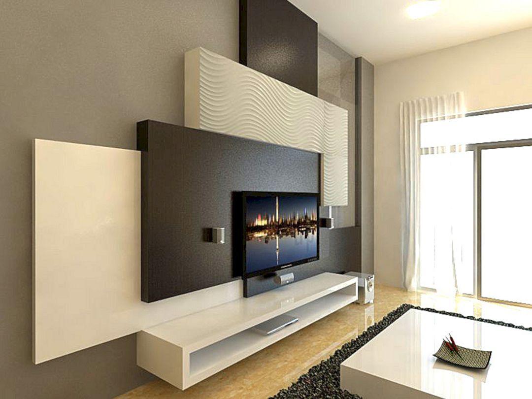 15 Fabulous Wall Tv Design Ideas For Cozy Living Room Home Diy Ideas Wall Tv Unit Design Wall Unit Designs Living Room Tv Wall