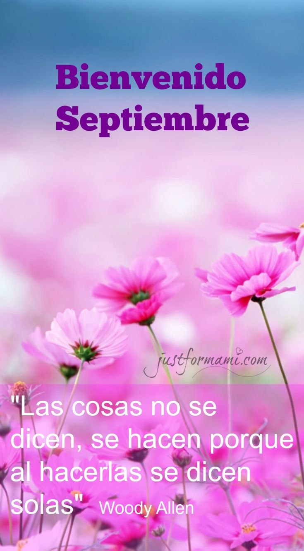 Bienvenido mes de Septiembre   Frases de septiembre, Bienvenido septiembre  frases, Septiembre frases