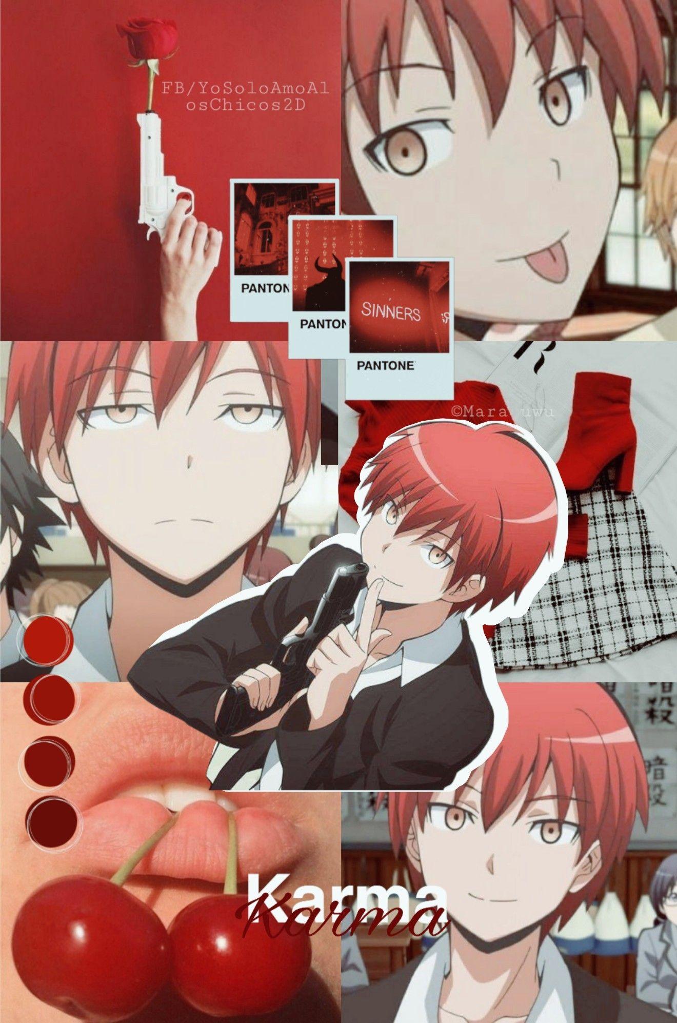 Karma Ansatsu Kyoushitsu Fondo Edicion Rojo Cute Anime Wallpaper Karma Akabane Anime Wallpaper