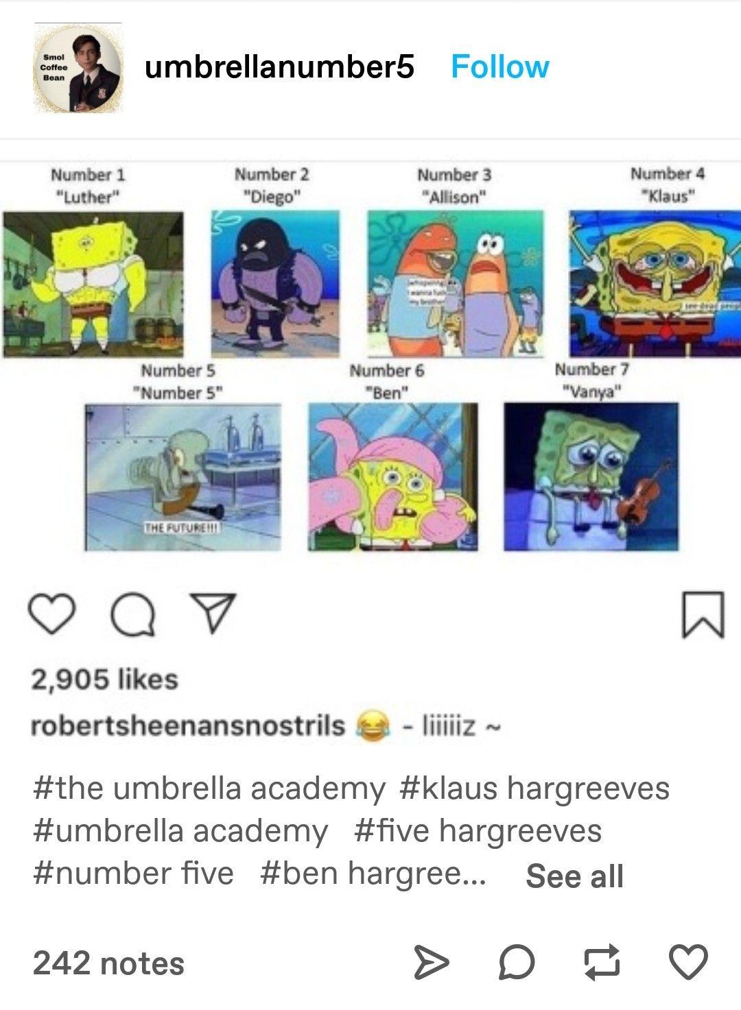 Klaus Klaus Klaus Spongebob : klaus, spongebob, Umbrella, Academy, Umbrella,, Under
