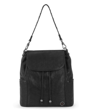 Loving this Black Avalon Leather Backpack on #zulily! #zulilyfinds