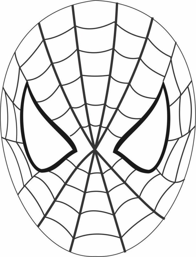 Maschera Di Spiderman Da Colorare.1001 Idee Per Maschere Da Colorare E Ritagliare Spider Man