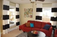 DIY Black & White Striped Curtains