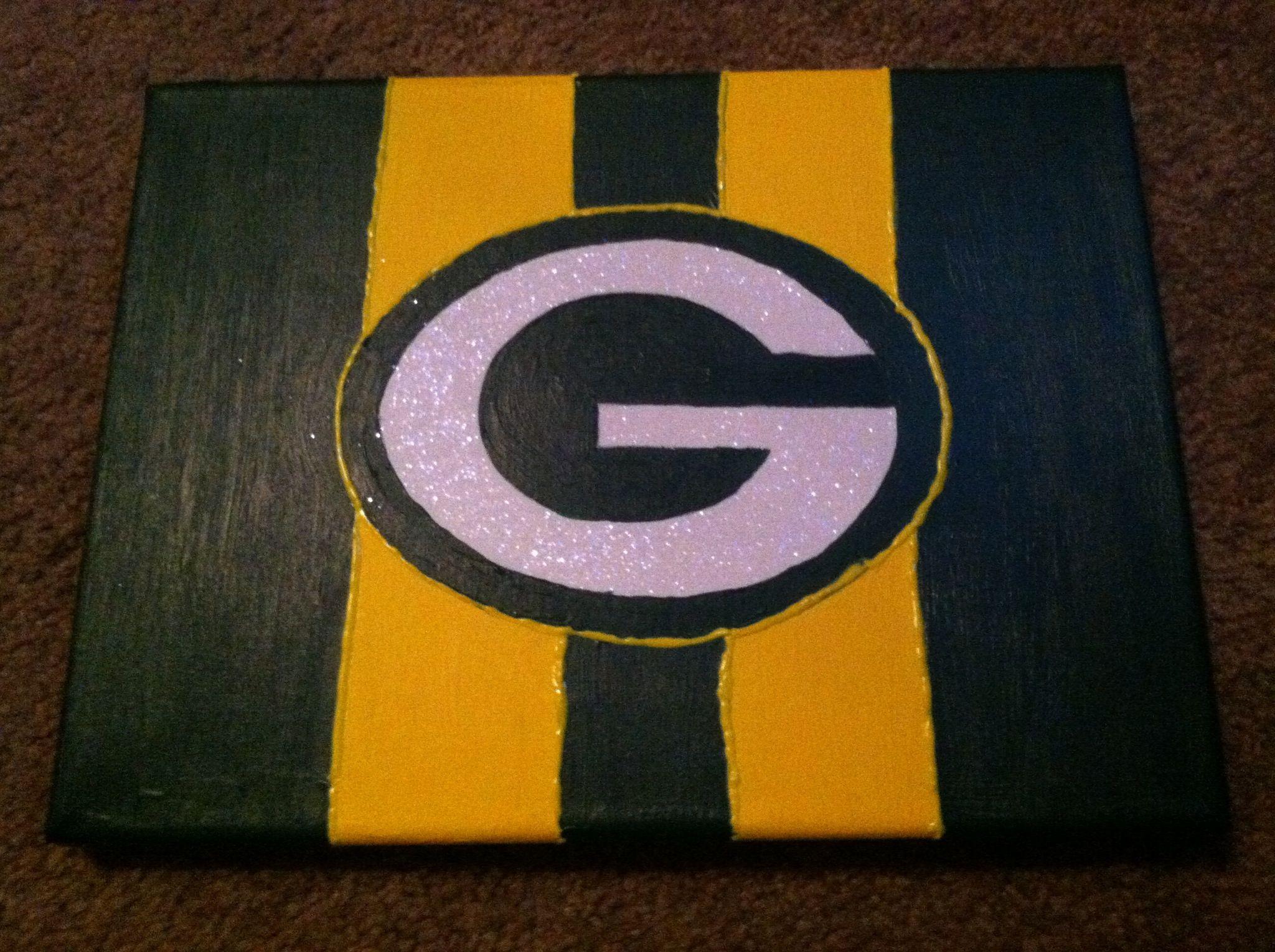 Green Bay Packers Canvas Art Diy Canvas Art Craft Night Green Bay Packers Diy