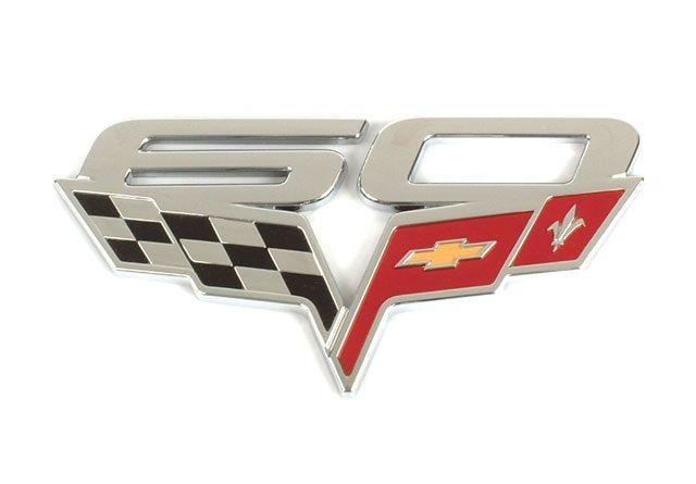 Corvette C6 2013 60th Anniversary Gm Fender Emblem Badges Pair Corvette Corvette Art Emblems