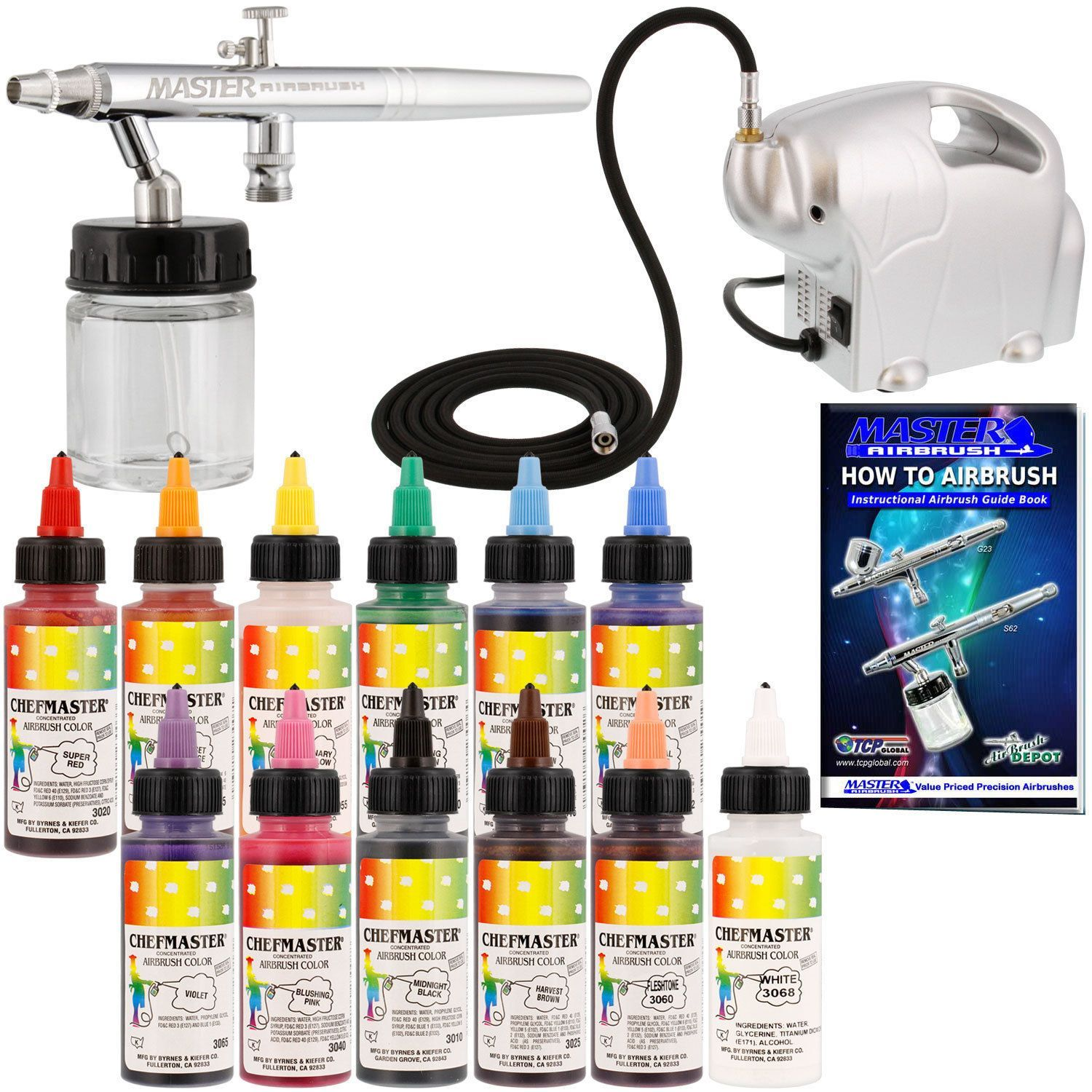 Details about Siphon Airbrush Cake Decorating Kit Air ...
