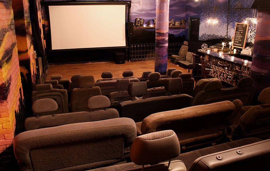 ReRun Gastropub Theater In Brooklyn Has Reclaimed Car Seats And A Full Bar
